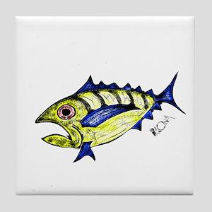 Tuna Abstract Tile Coaster