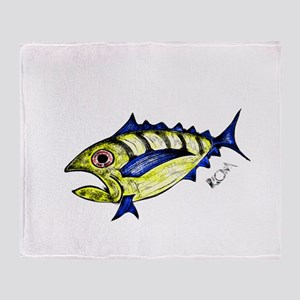 Tuna Abstract Throw Blanket
