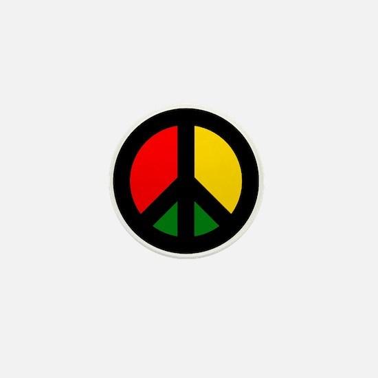 Rasta Ban the Bomb Mini Button