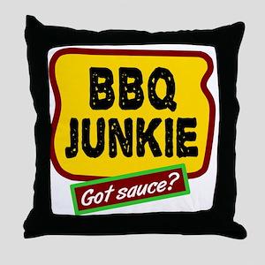 BBQ Junkie Throw Pillow