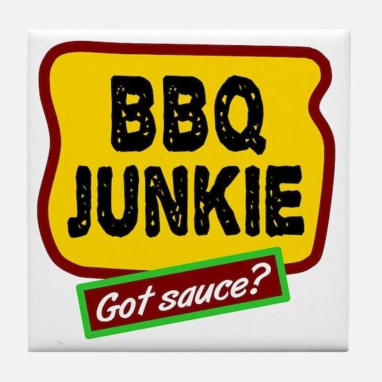 BBQ Junkie Tile Coaster