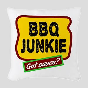 BBQ Junkie Woven Throw Pillow