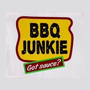 BBQ Junkie Throw Blanket