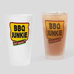 BBQ Junkie Drinking Glass
