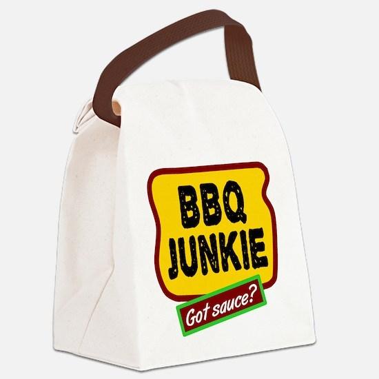 BBQ Junkie Canvas Lunch Bag