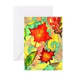 Autumn Wind Watercolor Greeting Card