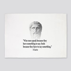 Quote By Plato 5'x7'Area Rug