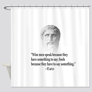 Quote By Plato Shower Curtain