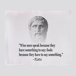 Quote By Plato Throw Blanket
