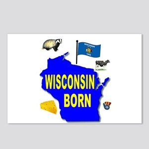 WISCONSIN BORN Postcards (Package of 8)