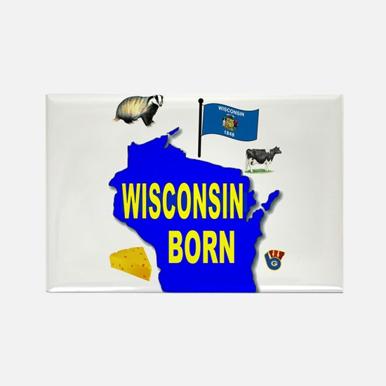 WISCONSIN BORN Magnets