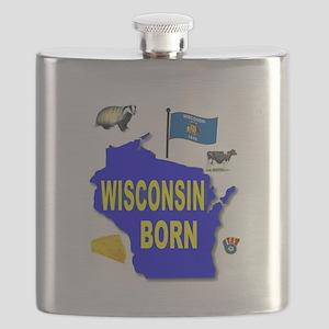 WISCONSIN BORN Flask