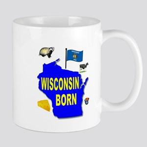 WISCONSIN BORN Mugs