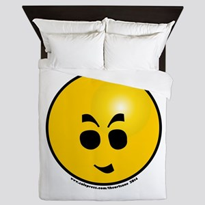 Emoticon Very Evil Grin Queen Duvet