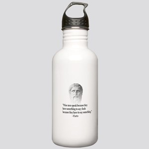 Quote By Plato Stainless Water Bottle 1.0L
