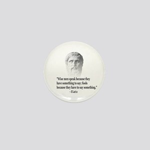 Quote By Plato Mini Button