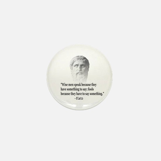 Quote By Plato Mini Button