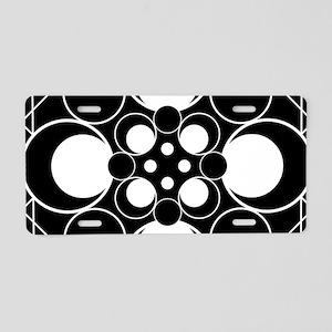 Art Deco Dots Aluminum License Plate