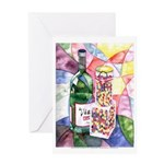 Wine and Candy Greeting Card