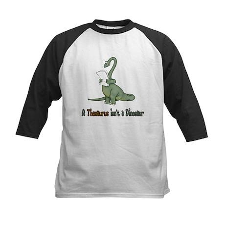Thesaurus Dinosaur Kids Baseball Jersey
