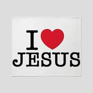I Love Jesus Throw Blanket
