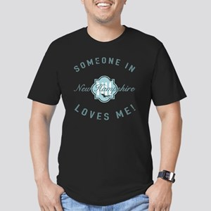 Someone In New Hampshi Men's Fitted T-Shirt (dark)