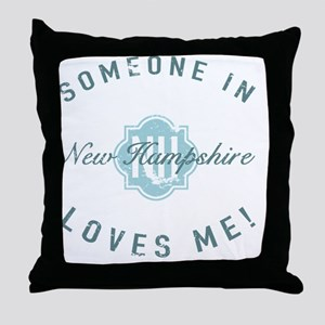 Someone In New Hampshire Throw Pillow