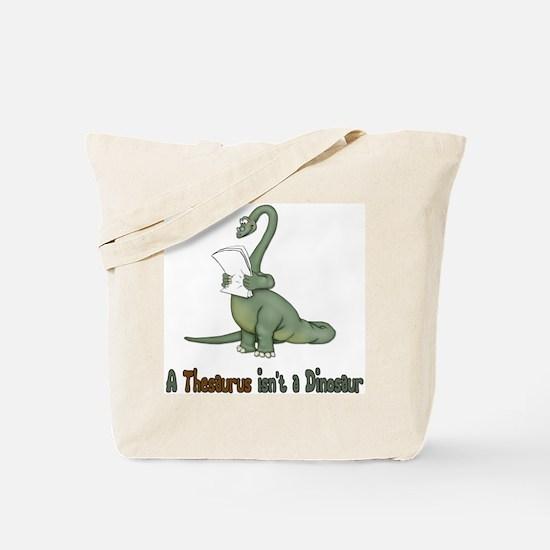 Thesaurus Dinosaur Tote Bag