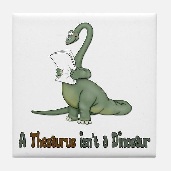 Thesaurus Dinosaur Tile Coaster
