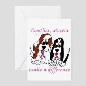 The Basset Boys Wear Pink Greeting Card