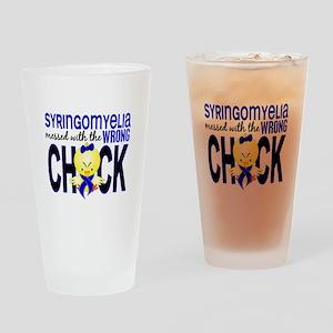 Syringomyelia MessedWithWrongChick1 Drinking Glass