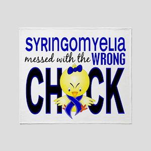 Syringomyelia MessedWithWrongChick1 Throw Blanket