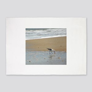 Florida Coastal Bird 5'x7'Area Rug