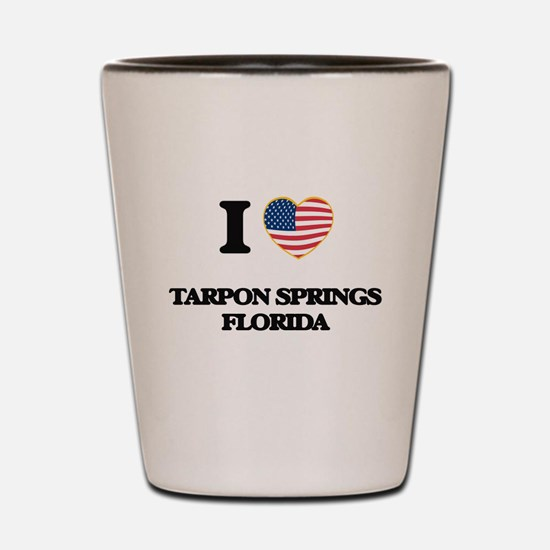 I love Tarpon Springs Florida Shot Glass