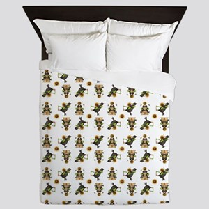 CROWS & SUNFLOWERS Queen Duvet