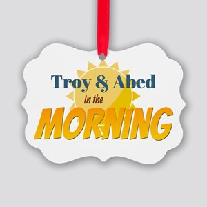 Troy and Abed in the morning Ornament