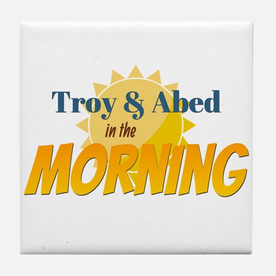 Troy and Abed in the morning Tile Coaster