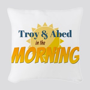 Troy and Abed in the morning Woven Throw Pillow