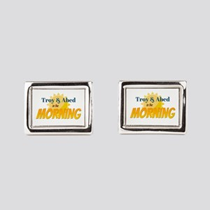Troy and Abed in the morning Rectangular Cufflinks