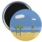 "Tropical Beach 2.25"" Magnet (10 pack)"