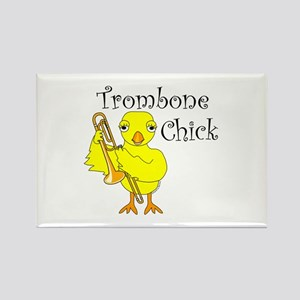 Trombone Chick Text Rectangle Magnet