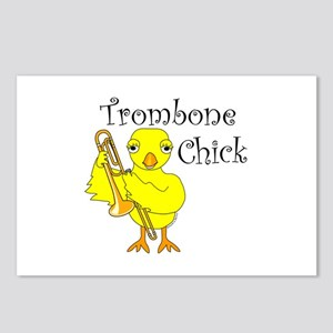 Trombone Chick Text Postcards (Package of 8)