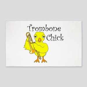 Trombone Chick Text Area Rug