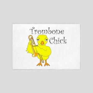 Trombone Chick Text 4' x 6' Rug