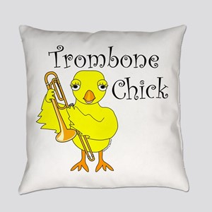 Trombone Chick Text Everyday Pillow