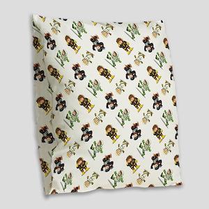 ASTRONAUT Burlap Throw Pillow
