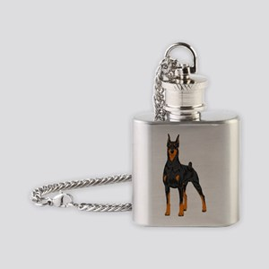 Doberman Pinscher Flask Necklace