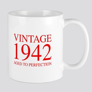 VINTAGE 1942 aged to perfection-red 300 Mugs