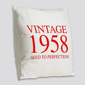 VINTAGE 1958 aged to perfection-red 300 Burlap Thr