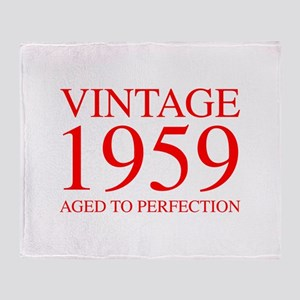 VINTAGE 1959 aged to perfection-red 300 Throw Blan